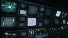 Various images showcasing the beautiful interfaces from Alien: Isolation