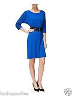 This versatile dress from Jaeger in electric blue has a tunic style and 3/4 sleeve. Available now from Miss Peachy for only £39.95 ( RRP £199 )