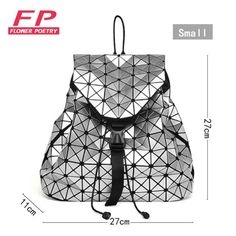 b67540661213 Fashion Women Drawstring Backpack Diamond Lattice Geometry Quilted Ladies  Backpack Sac Bag For Teenage girl Bao Bao School Bags