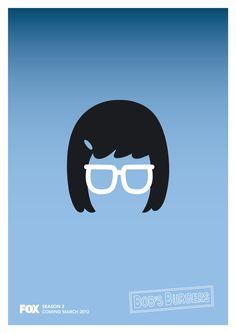 Tina Belcher - Bob's Burgers Poster  Hartydesign.com