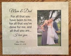 unframed Parents Of The Bride Parents Of The Groom All That You have been to me Parents Gift Wedding Christmas Thank You For Parents Wedding Gifts For Parents, Wedding Thank You, Gift Wedding, Wedding Picture Frames, Wedding Frames, Wedding Pictures, Personalized Picture Frames, Personalized Wedding Gifts, Bride Sister
