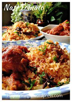 Nasi Tomato with Ayam Masak Merah