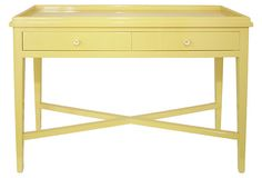 Love this console table - so bright and cheerful!    Allie Console, Yellow