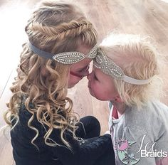 Love this fishtail braid with curls