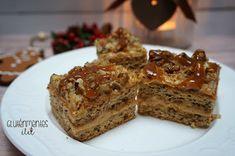 DECEMBER 8. - Gluténmentes karamellás-diós szelet | Gluténmentes élet Banana Bread, December, Dios, Caramel