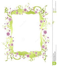 Purple Flower Vine Border Royalty Free Stock Photography - Image: 6989657
