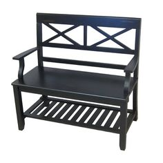 Ultimate Accents Double X Wooden Bench