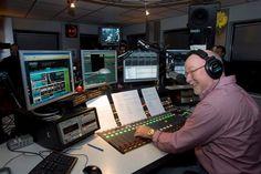 Famous Dutch DJ Ferry Maat in the Veronica studio.