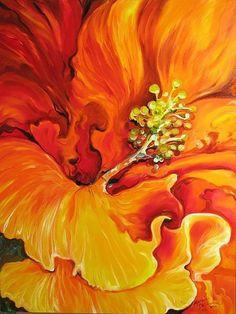 """Hibiscus Flame"" par Marcia Baldwin"
