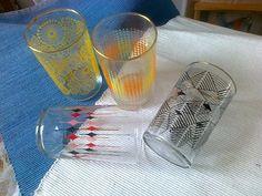 4x sklenička z 60.- 70.let