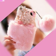 >> Click to Buy << Real Rex Rabbit Hair Fur Case cover For Sony Xperia XA1 XA Ultra X E5 M5 M4 M2 C5 C4 Z L1 Diamond pearl coque pompom Capa Fundas #Affiliate