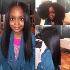 Little Black Girls Hairstyles : (notitle) Natural Hairstyles For Kids, Little Girl Hairstyles, Straight Hairstyles, Cool Hairstyles, Black Hairstyles, Natural Straight Hair, Curly Hair Styles, Natural Hair Styles, Hair Shrinkage