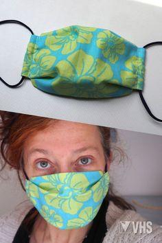 Wenn schon Maske, dann bitte eine, die uns gefällt ;) Mit dieser Anleitung kannst du dir schnell und einfach deinen eigenen Mund-Nasen-Schutz nähen. Nimm am besten einen engmaschigen Stoff, der auch bei 60 Grad gewaschen werden kann. Die genähte Maske bietet keinen Schutz vor einer Ansteckung mit dem Coronavirus, verringert jedoch das Risiko, andere Menschen in der Umgebung anzustecken. Wichtig ist es, auch mit Maske, weiterhin Abstand zu anderen zu halten! Viel Spaß beim Nähen und bleib… Diy Mask, Diy Face Mask, Face Masks, Sewing For Kids, Free Sewing, Sewing Stitches, Sewing Patterns, Dress Sewing Tutorials, Sewing For Beginners
