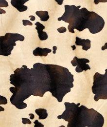Brown/Ivory Pony Velboa Faux Fur Fabric