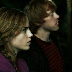 Two beautiful people...Ron and Hermione!