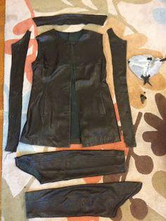 Refashion Co-op: Leather jacket refashion