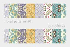 Floral Patterns 01 by ~toybirds on deviantART