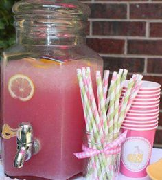 Baby shower drink. Girl