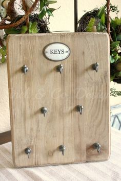 Farmhouse key holder by Finch & Co. Designs