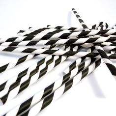 Amazon.com: Bella Cupcake Couture Paper Party Striped Straws, Black/White: Disposable Drinking Straws: Kitchen & Dining