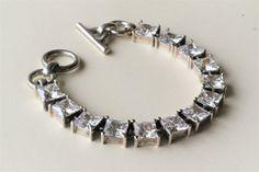 Pandora. Armbånd i  sølv, med zirkonia. Vintage