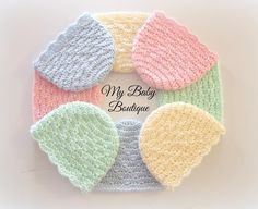 Easy Baby Caps - 7 sizes -Preemie to newborn hats - Kinder Kleidung Crochet Baby Cap, Crochet Baby Hats Free Pattern, Baby Hat Patterns, Newborn Crochet, Easy Crochet Patterns, Crochet Designs, Crochet Hats, Crochet Ideas, Crochet Poppy