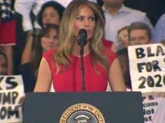 Video & Photos: First Lady Melania Trump Opens President's Melbourne, Florida Rally with the Lord's Prayer and Speech, Sat., Feb. 18, 2017