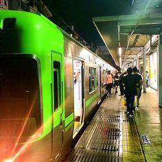 Keio-Inokashira line train at Meidaimae station Tokyo by aroundtokyo