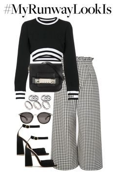 """""""Untitled #4552"""" by theeuropeancloset ❤ liked on Polyvore featuring Topshop, Versus, Proenza Schouler, Gucci, Moncler and ASOS"""