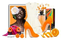 """""""orange"""" by margo47 ❤ liked on Polyvore featuring Bob Mackie, Casadei, Alexander McQueen, Loeffler Randall and NOVICA"""