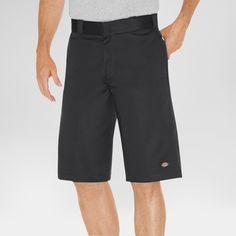 Dickies Men's Big & Tall Relaxed Fit Twill 13 Multi-Pocket Work Short- Black 48