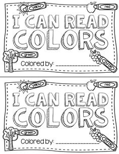 Color word book: Cute! Free printable by following the link.