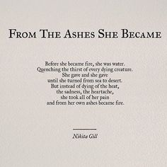 From the Ashes She Became...