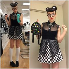 """""""Today: clueless meets scooter girl #lastminutelooks"""""""