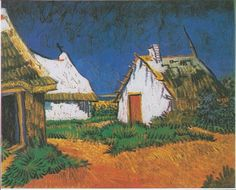 Vincent Van Gogh - White Farmhouses in Saintes-Maries (June 1888), on display at the Kunsthaus, Zurich.