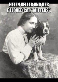 Hellen Keller & her beloved kitten