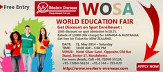 """After the success of """"Free IELTS Workshop"""", now Western Overseas is going to organize a World Education Fair in Kurukshetra. Western Overseas has invited to Representative of Top colleges from Australia, Canada, New Zealand and Ireland for the fair. Representative will provide free counseling to all. They will guide to students and all other guests about study abroad."""