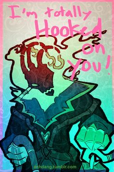 Chillout :: I'm totally hooked on you <3 :: Thresh :: League of Legends Valentine's Day Card :: Valentine