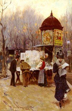 """"""" Carlo Brancaccio The Kiosk, Paris 1899 """""""