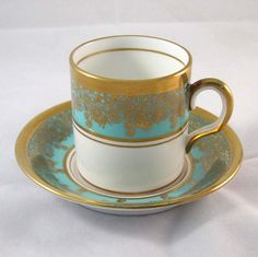 Royal Chelsea Demi Cup Saucer Cyan Vintage 1950s. $27.95, via Etsy. So pretty