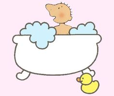 Jules in bad Ga In, Shower Time, Free Coloring Pages, Illustration, Baby, Water, Bathing, Stage, Draw