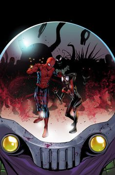 Spider-Men #3 by David Marquez, colours by Rain Beredo