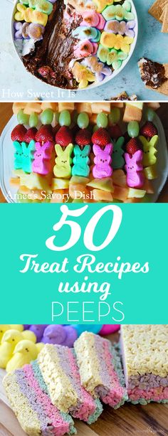50 Recipes Using Peeps! There are so many creative uses for this favorite Easter candy! - So TIPical Me Easter Deviled Eggs, Easter Peeps, Easter Candy, Easter Stuff, Easter Food, Easter Decor, Easter Dinner, Easter Brunch, Easter Recipes