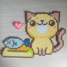 Cat perler beads by yao0405_krisluhan