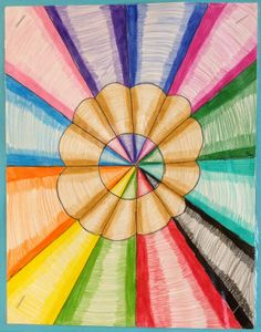 Pencil Art Runde's Room: Friday Art Feature: Name Spheres and Pencil Crayons - Optical Illusion Art Ideas Crayon Drawings, Crayon Art, Color Wheel Art, Middle School Art Projects, 6th Grade Art, Ecole Art, Illusion Art, Color Pencil Art, Art Classroom