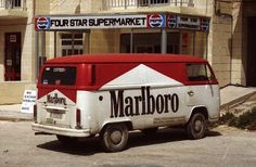 Vintage Marlboro Advertising Volkswagen Bus ☮ #VWBus ☮ pinned by www.wfpcc.com