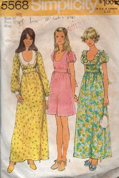 Simplicity 70s Sewing Pattern Hippie Boho by AdeleBeeAnnPatterns, $5.00