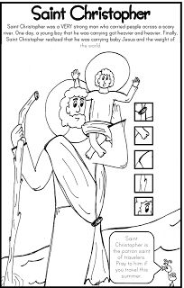 ***FREE*** Saint Christopher Coloring Page Catholic Kids