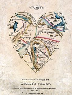 19th Century Map of Woman's Heart