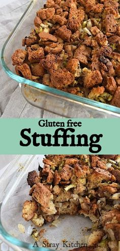 Gluten free Stuffing is a must for the Holidays. It's easy to make and is full of all that comforting flavor with the perfect texture.  #holidayreccipe #glutenfreestuffing #glutenfreedressing #Thanksgivingreipe Savory Bread Puddings, Gluten Free Stuffing, Stuffing Mix, It's Easy, Dairy Free, Side Dishes, Stuffed Mushrooms, Good Food, Thing 1